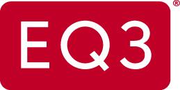 eq3 logo red white letters EQ3s Mondo Condo Concepts Designed by Shai DeLuca Tamasi